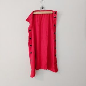 NEW Madewell Persimmon Side Button Midi Skirt